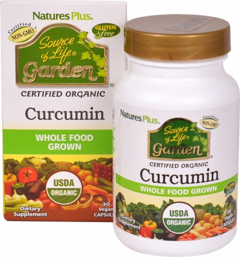 Nature's Plus  Source of Life® Garden Curcumin Perspective: front