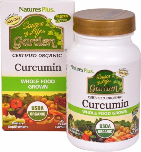 Natures Plus  Source of Life® Garden Curcumin Perspective: front