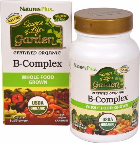 Natures Plus  Source of Life® Garden B-Complex Supplements Perspective: front
