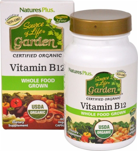 Nature's Plus Source of LIfe® Garden Vitamin B12 Supplements Perspective: front