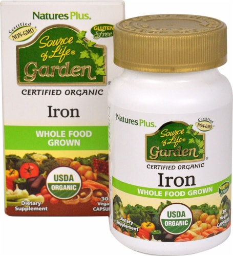 Nature's Plus  Sourcec of Life® Garden Iron Perspective: front