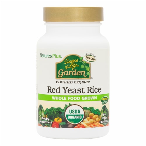 Natures Plus Garden Red Yeast Rice 600 mg Dietary Supplement Perspective: front