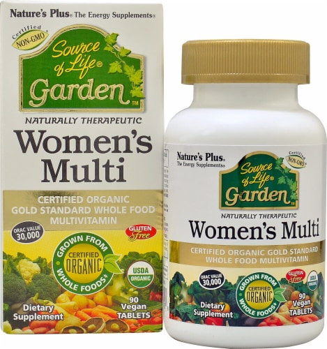 Nature's Plus Source of Life Garden Women's Multi Vegan Tablets Perspective: front