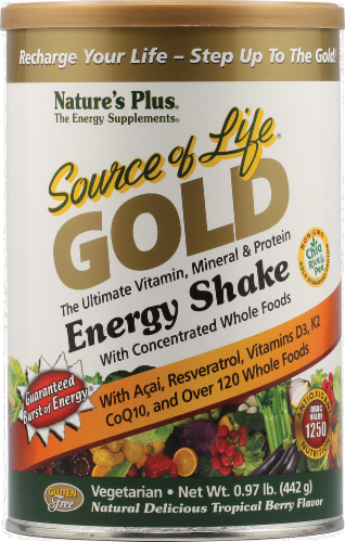 Nature's Plus Source Of Life Gold Energy Shake Powder Perspective: front