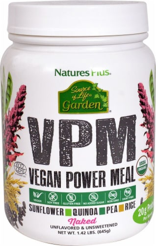 Nature's Plus  Source of Life Garden® VPM Vegan Power Meal   Naked Perspective: front