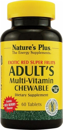Nature's Plus  Adult's Multi-Vitamin Chewable   Red Berry Perspective: front