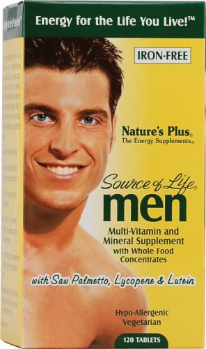 Nature's Plus  Source of Life® Men Multi-Vitamin and Mineral Perspective: front