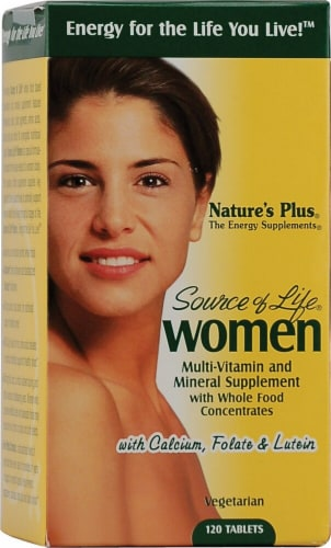 Nature's Plus  Source of Life® Women Multi-Vitamin and Mineral Perspective: front