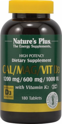 Nature's Plus Cal Mag Vitamin D3 with Vitamin K2 Perspective: front