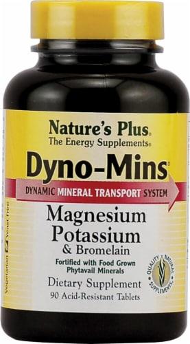 Nature's Plus  Dyno-Mins® Magnesium Potassium & Bromelain Supplement Perspective: front