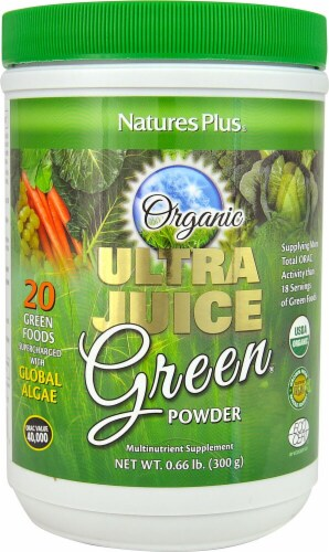 Nature's Plus  Organic Ultra Juice Green® Powder Perspective: front