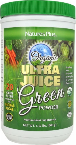 Nature's Plus Organic Ultra Juice Green Powder Perspective: front