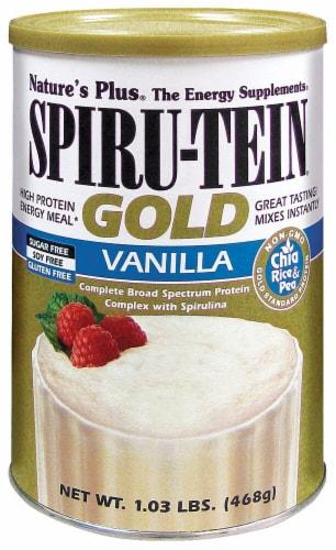 Nature's Plus  Spiru-Tein® Gold Shake   Vanilla Perspective: front
