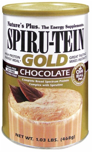 Nature's Plus Spiru-Tein Chocolate Gold Energy Meal Perspective: front