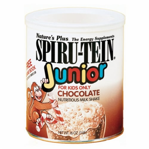 Nature's Plus  Spiru-Tein® Junior Milk Shake   Chocolate Perspective: front
