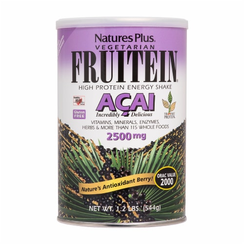 Nature's Plus Vegetarian Fruitein Acai High Protein Energy Shake Perspective: front
