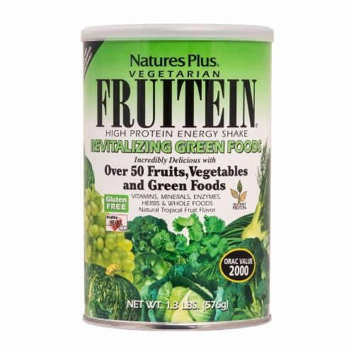 Nature's Plus Fruitein Green Foods Shake Perspective: front