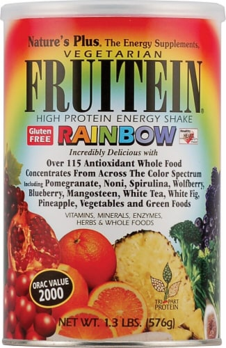 Nature's Plus Fruitein High Protein Rainbow Vegetarian Energy Shake Perspective: front