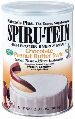 Nature's Plus  Spiru-Tein® High Protein Energy Meal   Chocolate Peanut Butter Swirl Perspective: front
