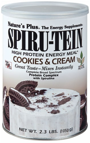 Nature's Plus  Spiru-Tein® High Protein Energy Meal   Cookies & Cream Perspective: front