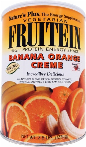 Nature's Plus  Fruitein® High Protein Vegetarian Energy Shake   Banana Orange Creme Perspective: front