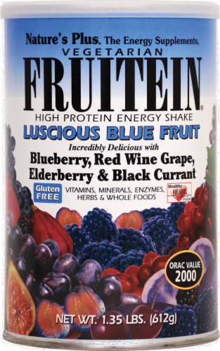 Nature's Plus Fruitein Blue Frt Shake Perspective: front