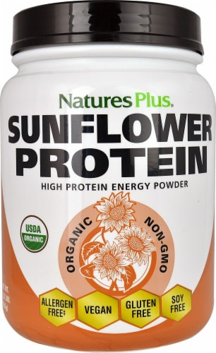 Nature's Plus Sunflower Protein Powder Perspective: front