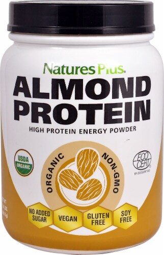 Natures Plus  Organic Almond Protein Perspective: front