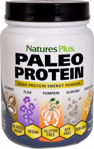 Nature's Plus  Paleo Protein   Unflavored Perspective: front