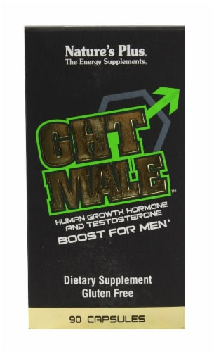Nature's Plus GHT Male Human Growth Hormone and Testosterone Boost For Men Perspective: front