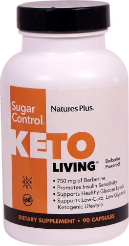 Natures Plus  Keto Living™ Sugar Control® Perspective: front