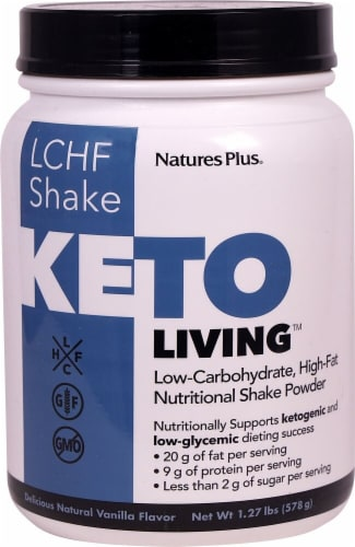 Nature's Plus  Keto Living™ LCHF Shake   Vanilla Perspective: front