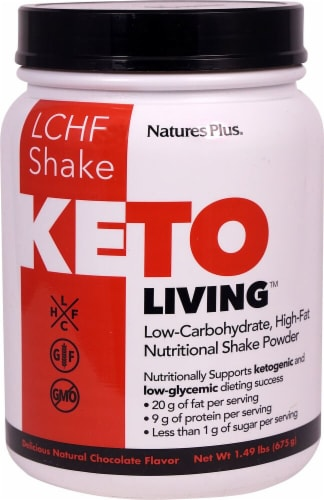 Nature's Plus  Keto Living™ LCHF Shake   Chocolate Perspective: front