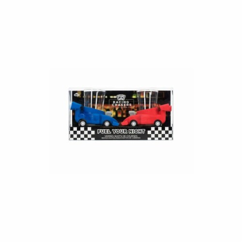 Kole Imports KL603-6 Racing Chasers Race Car Shot Glasses Target - Pack of 6 Perspective: front
