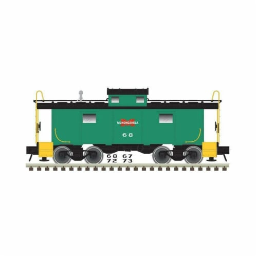 Atlas ATL50003850 N Scale NE-6 Caboose Monongahela No.73 Model Train Perspective: front