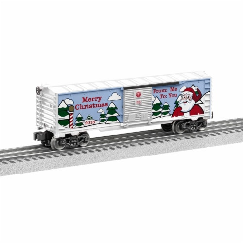 Lionel LNL84747 O Scale 2018 Christmas Box Car Perspective: front