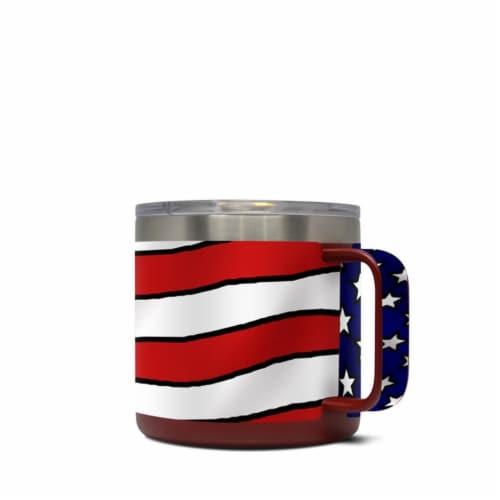 DecalGirl Y14-AMERICANEAGLE Yeti 14 oz Mug Skin - American Eagle Perspective: front