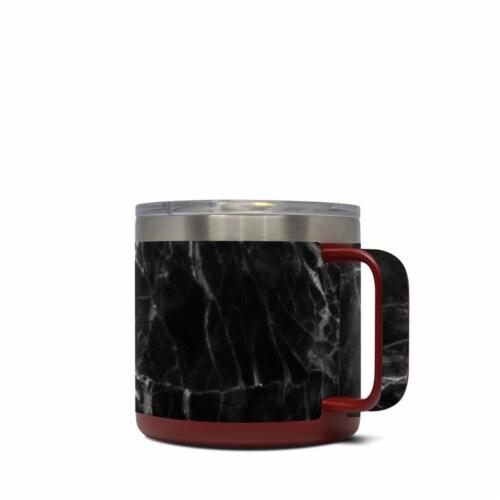 DecalGirl Y14-BLACK-MARBLE Yeti 14 oz Mug Skin - Black Marble Perspective: front