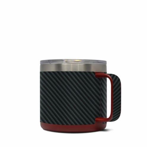 DecalGirl Y14-CARBON Yeti 14 oz Mug Skin - Carbon Perspective: front