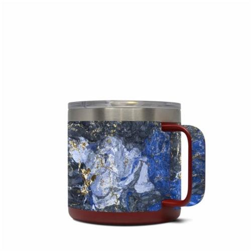 DecalGirl Y14-GOCEANMARB Yeti 14 oz Mug Skin - Gilded Ocean Marble Perspective: front