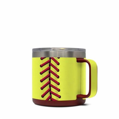 DecalGirl Y14-SOFTBALL Yeti 14 oz Mug Skin - Softball Perspective: front
