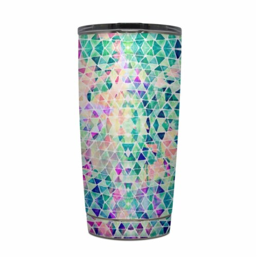 DecalGirl Y20-PASTELTRIANGLE Yeti Rambler 20 oz Tumbler Skin - Pastel Triangle Perspective: front