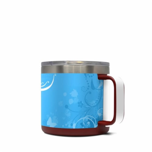 DecalGirl Y14-BLUECRUSH Yeti 14 oz Mug Skin - Blue Crush Perspective: front