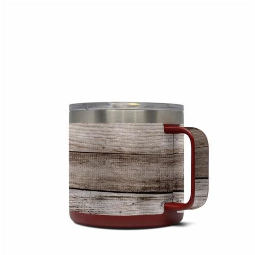 DecalGirl Y14-BWOOD Yeti 14 oz Mug Skin - Barn Wood Perspective: front
