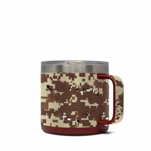 DecalGirl Y14-DIGIDCAMO Yeti 14 oz Mug Skin - Digital Desert Camo Perspective: front