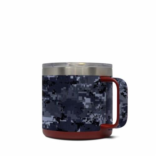 DecalGirl Y14-DIGINCAMO Yeti 14 oz Mug Skin - Digital Navy Camo Perspective: front