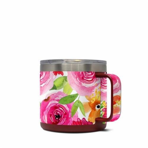 DecalGirl Y14-FLORALPOP Yeti 14 oz Mug Skin - Floral Pop Perspective: front