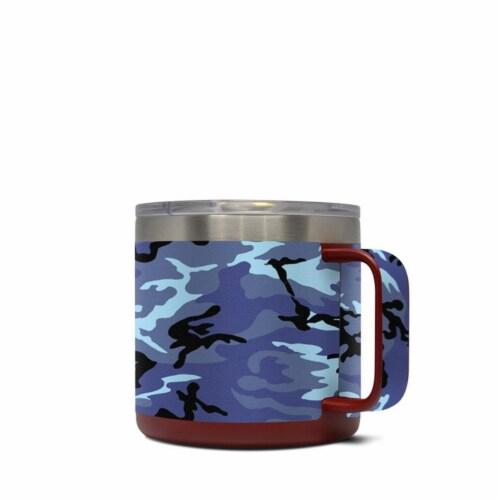 DecalGirl Y14-SCAMO Yeti 14 oz Mug Skin - Sky Camo Perspective: front