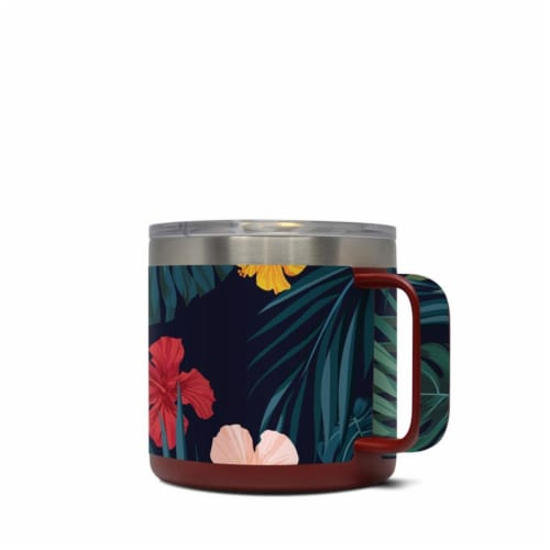 DecalGirl Y14-TROPHIB Yeti 14 oz Mug Skin - Tropical Hibiscus Perspective: front