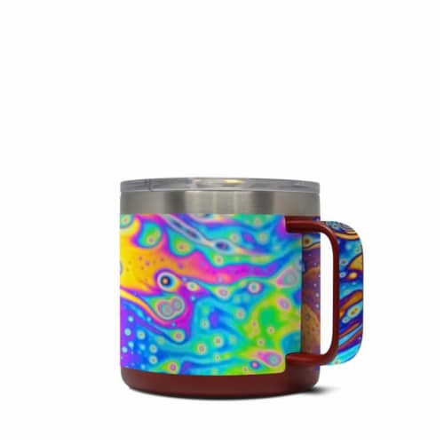 DecalGirl Y14-WORLDOFSOAP Yeti 14 oz Mug Skin - World of Soap Perspective: front